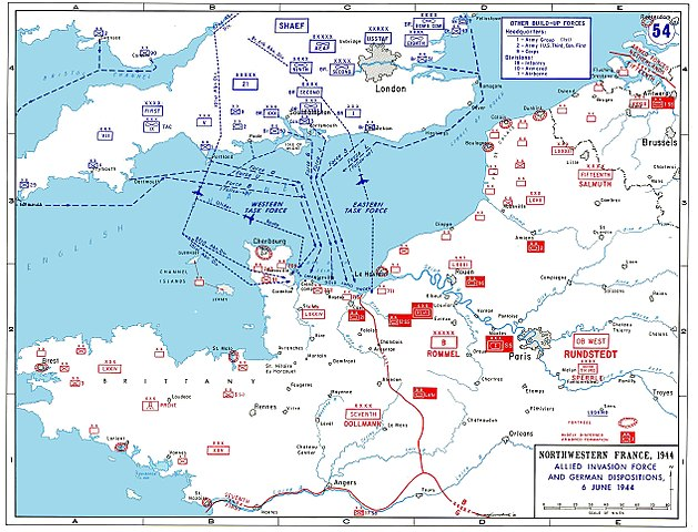 D-Day Allied Invasion Map